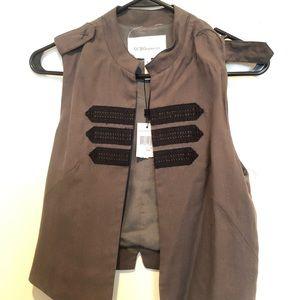 BCBG military green vest